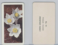 FC34-4 Brook Bond, Wild Flowers NA, 1961, Printer Proof, #18 Pasque Flower