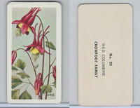FC34-4 Brook Bond, Wild Flowers NA, 1961, Printer Proof, #20 Wild Columbine