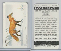 FC34-3 Brook Bond, Animals North America, 1960, #12 Red Fox