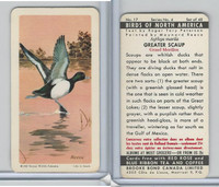 FC34-5 Brook Bond, Birds North America, 1962, #17 Greater Scaup