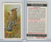 FC34-10 Brook Bond, Canadian/Am. Songbirds, 1966, #25 Bohemian Waxwing