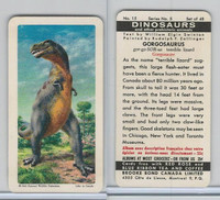 FC34-6 Brook Bond, Dinosaurs, 1963, #15 Gorgosaurus