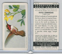 FC34-1 Brook Bond, Songbirds North America, 1959, #10 Rufous Hummingbird