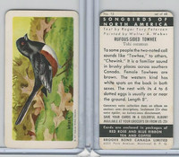 FC34-1 Brook Bond, Songbirds North America, 1959, #15 Rufous Towhee