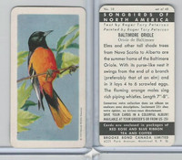 FC34-1 Brook Bond, Songbirds North America, 1959, #18 Baltimore Oriole