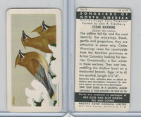 FC34-1 Brook Bond, Songbirds North America, 1959, #22 Cedar Waxwing