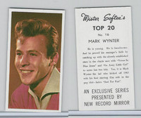 1963 Mister Softee's, Top 20, #16 Mark Wynter