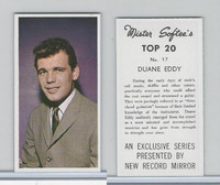1963 Mister Softee's, Top 20, #17 Duane Eddy