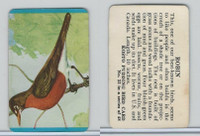 F218-2 Kosto Pudding, Bird Cards, 1964, #32 Robin