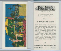 1970 Barkers Bubblegum, Circus Scenes, #1 A Country Fair