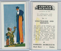1970 Barkers Bubblegum, Circus Scenes, #11 Stiltwalker And Midgets