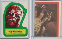 1980 Universal, Monster Hall Of Fame Stickers, #7 Werewolf