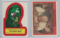 1980 Universal, Monster Hall Of Fame Stickers, #12 The Mole Man