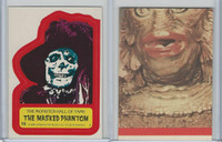 1980 Universal, Monster Hall Of Fame Stickers, #15 Masked Phantom
