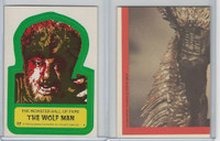 1980 Universal, Monster Hall Of Fame Stickers, #17 Wolf Man