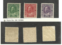Canada, Postage Stamp, #107, 109, 112 Mint LH, 1922-23