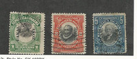 Canal Zone (USA), Postage Stamp, #31-33 Used, 1909-10