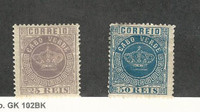 Cape Verde (Portugal), Postage Stamp, #12, 14 Mint Hinged, 1881-85