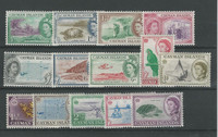 Cayman Islands, Postage Stamp, #136//161 (14 Different) Mint NH, 1953-62