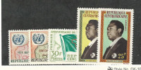 Central Africa, Postage Stamp, #17-18, 21-23 Mint Hinged, 1961-2 Map Flag