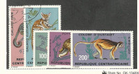 Central Africa, Postage Stamp, #142-146 Used, 1971 Animals