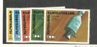 Central Africa, Postage Stamp, #251-252, C135-C137 Mint NH, 1976 Space