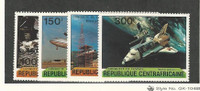 Central Africa, Postage Stamp, #445-448 Mint NH, 1981 Space