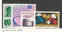 Chad, Postage Stamp, #88-89, 100-101 Mint LH, 1963-64