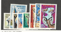 Chad, Postage Stamp, #104-111 Mint LH, 1964-65 Animals