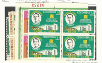 Columbia, Postage Stamp, #C371, 510, 518, 529-30 Mint NH Blocks, 1960