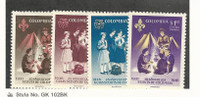 Columbia, Postage Stamp, #C435-C438 Mint LH, 1962 Scouting