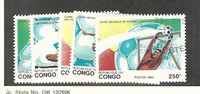 Congo, Postage Stamp, #1002-1006 Used, 1993 Football, Soccer