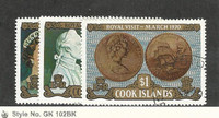 Cook Islands, Postage Stamp, #284-286 Used, 1970 Royal Visit