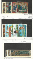 Cook Islands, Postage Stamp, #292-6, 297-301, 316-8 Used, 1970-2 Chirstmas