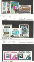 Costa Rica, Postage Stamp, #C475-9, C732-4, C752-3 Mint NH, 1968-79