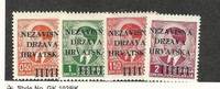 Croatia, Postage Stamp, #1-4 VF Mint LH, 1941