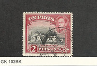 Cyprus, Postage Stamp, #147BC (Perf 12.5X13.5) Used, 1944