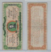 R118 Dietz, Presidents Play Bucks, 1937, Franklin Pierce, $2