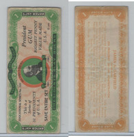 R118 Dietz, Presidents Play Bucks, 1937, James Garfield, $1 (B)