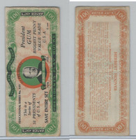 R118 Dietz, Presidents Play Bucks, 1937, Herbert Hoover, $100