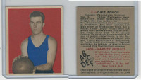 1948 Bowman Basketball, #3 Gale Bishop, Philadelphia Warriors