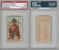 N3 Allen & Ginter, Arms of all Nations, 1887, Abyssinian Spear, PSA 7 MC NM