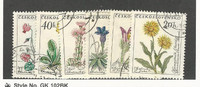Czechoslovakia, Postage Stamp, #1013-1018 Used, 1960 Flowers