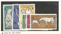 Czechoslovakia, Postage Stamp, #1111-1116 Mint LH, 1962 Animals