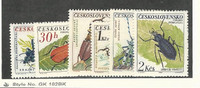 Czechoslovakia, Postage Stamp, #1144-1149 Mint LH, 1962 Insects