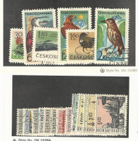Czechoslovakia, Postage Stamp, #1339-44, 1345-53 Used, 1965-6 Birds