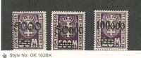 Danzig (Germany), Postage Stamp, #J26, J28-J29 Mint NH, 1923
