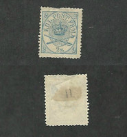 Denmark, Postage Stamp, #11 Mint No Gum Small Thin, 1865