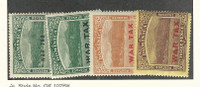 Dominica, Postage Stamp, #MR2-MR5 Mint Hinged, 1916-19 War Tax