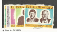 Ecuador, Postage Stamp, #764-764A, C-E, 1967 Kennedy, Churchill